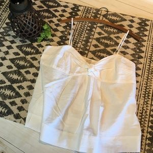 J. CREW Factory linen top in white; NWT